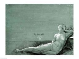 Reclining female nude, 1501 Poster Print by Albrecht Durer BALXAM70451LARGE