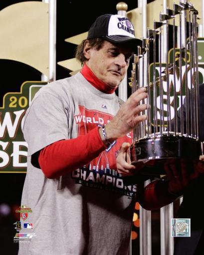 Tony LaRussa with World Series Championship Trophy Game 7 of the 2011 MLB World Series Photo Print GAZAJWPT2F2Z4WD7