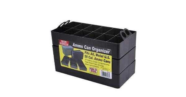 Mtm mtm ammo can organizer insert - sold as 3-pack 22 compartments black thumbnail