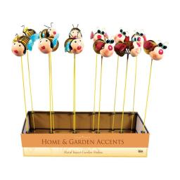 Alpine 8518425 Assorted Insect Outdoor Garden Stakes - Metal- Pack Of 12