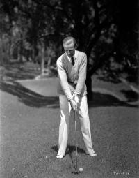 Fred Astaire Playing Golf in White Pants Photo Print GLP448484