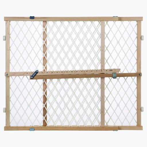 North States 4600 White, Wood North States Easy Adjust - Diamond Mesh Pet Gate White, Wood 26.5 - 42 X 23