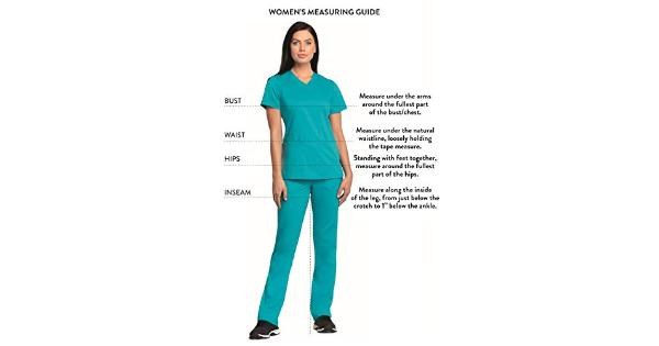 CHEROKEE Women's Workwear Core Stretch Drawstring Cargo Scrubs Pant, Hunter, …