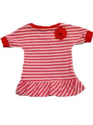 Carter's Baby Girls' Red and Pink Stripe Pullover Playwear