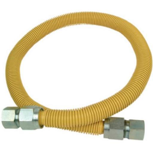 Brass Craft S126636 .75 in. Female Iron Pipe x .75 in. Female Iron Pipe x 36 in. Mobile Home Gas Connector