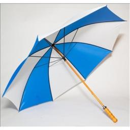 Elite Rain Frankford 2988WS-BW Wooden Shaft Golf Umbrella, Royal Blue and White