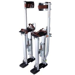 "Silver Professional Grade Adjustable Drywall Stilts Taping Paint Stilt Aluminum 24""-40"""