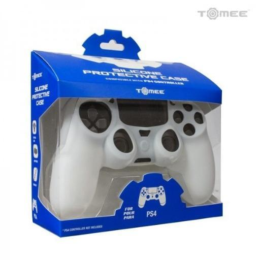 PlayStation 4 Controller Silicone Gel Grip Protective Cover Sleeve White PS4