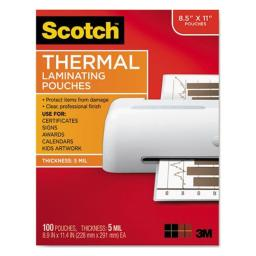 3M/Commercial Tape Div. MMMTP5854100 Pouch,Thrm Lmntr,5Mil,100