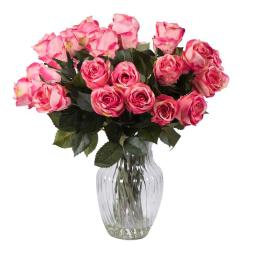 Vickerman F12190 Beauty Rose Arrangement Everyday Floral - 16 in.