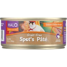 Halo Purely For Pets Cat Food - Spots Pate - Ground Chicken - Grain-Free - 5.5 oz - case of 12