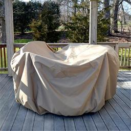 All-Weather Protective Cover for 54 in. Round Table & Chairs with Umbrella Hole