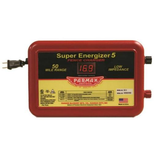 Parmak Se-5/4 Range Electric Fence Controller, 50 Mile