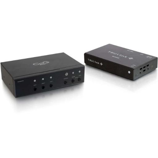 C2g 29309 hdmi and vga + stereo audio hdbaset over cat5 extender transmitter to receiver k