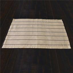 VHC Brands 33311 12 x 18 in. Charley Black Placemat - Set of 6