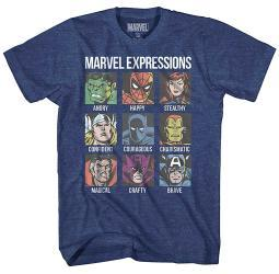 Marvel Avengers Expression Moods Mens Adult Graphic T-Shirt
