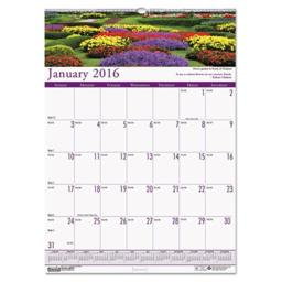 House Of Doolittle 302 2016 Gardens Of The World Monthly Wall Calendar, 12 x 16.5 in.