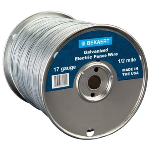 Bekaert 210338 0.5 Mile Electric Fence Wire - 17 Gauge