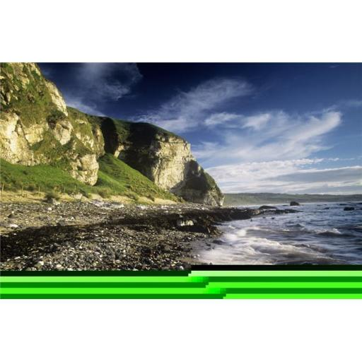Posterazzi DPI1798543LARGE Rock Formations At The Coast Ballintoy County Antrim Northern Ireland Poster Print by The Irish Image Collection, 34 x 22 -