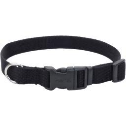 "Coastal Soy 3/4"" Adjustable Dog Collar-Onyx, Neck Size 12""-18"""