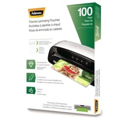 Fellowes 5743501 5 Mil Letter Laminating Pouches - 100 Per Pack