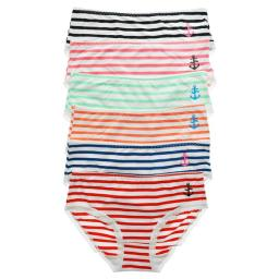 Angelina Cotton Mid-Rise Briefs With Anchor Stripe Design - 2Xl