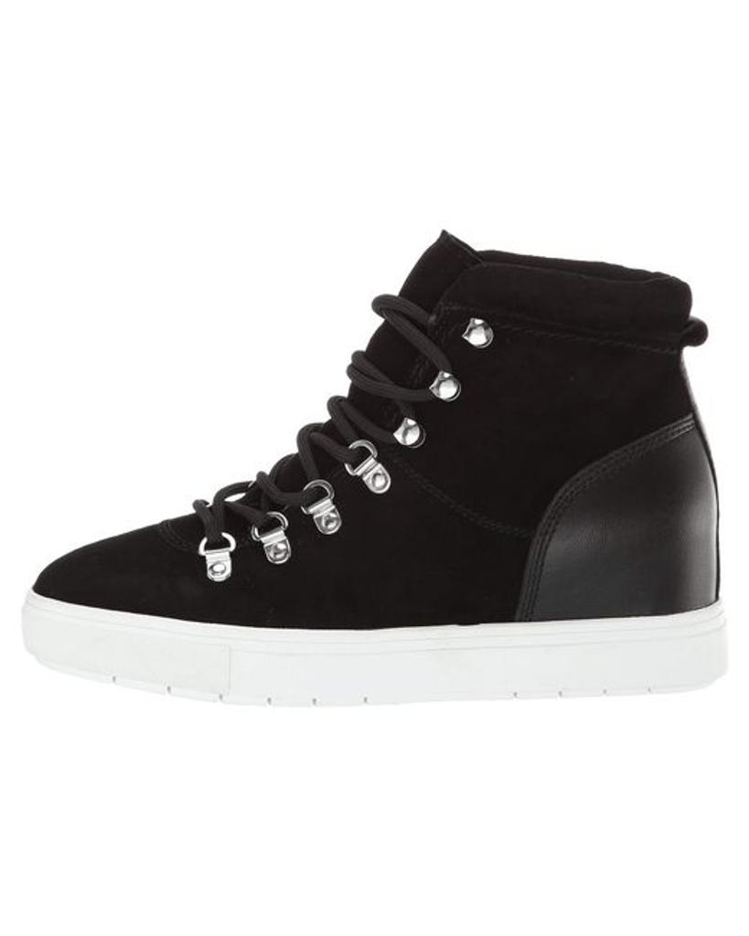 42b416d781c Steven by Steve Madden Womens Kalea Leather Hight Top Lace Up Fashion  Sneakers