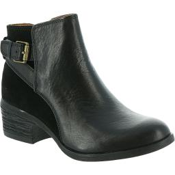 Comfortiva Womens Creston Leather Buckle Ankle Boots
