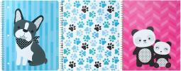 """Studio C 1-subject Notebook 10.5""""x8.5"""" Assorted Colors-hair Of The Dog, College Rule, 80 Sheets"""