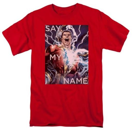 Trevco Jla-Say My Name Short Sleeve Adult 18-1 Tee, Red - XL N0IFS9L8QUCH0BJY