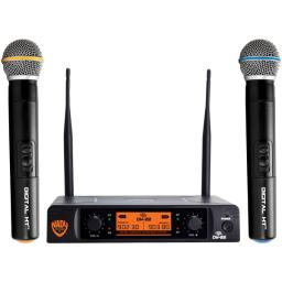 Nady(r) dw-22-ht-any dual-transmitter digital wireless microphone system (2 digital ht(tm) handheld microphones)