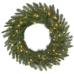 Vickerman A154348 Durango Spruce Dura-lit Wreath with Clear Lights, 48 in.