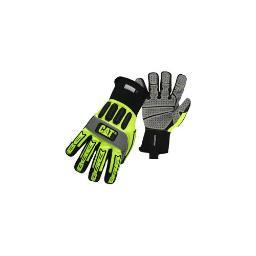 Cat  merchandise cat6000l high visibility high impact gloves with synthetic palm neoprene cuff  large