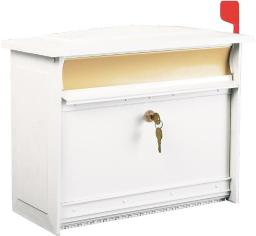 Gibraltar Msk0000w Extra Large Lockable Wall Mount Mailbox, White
