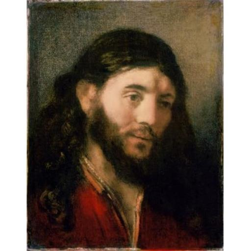 Posterazzi SAL900101217 Head of Christ Rembrandt Harmensz Van Rijn 1606-1669 Dutch Oil on Canvas Poster Print - 18 x 24 in.