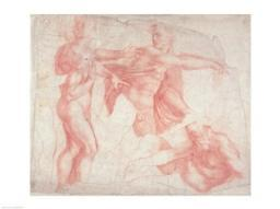 Studies of Male Nudes Poster Print by Michelangelo Buonarroti BALBAL42710LARGE