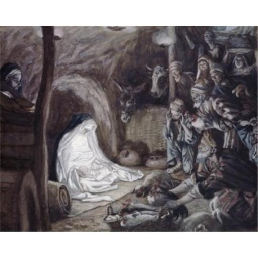 Posterazzi SAL9999926 Adoration of the Shepherds James Tissot 1836-1902 French Poster Print - 18 x 24 in.