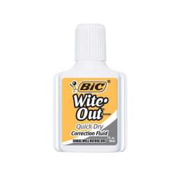 Bic USA BICWOFQD12WHIBN Bic Witeout Quick Dry Correct Fluid - Pack of 12