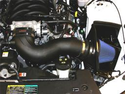 Airaid 11-14 Ford Mustang GT 5.0L Race Only (No MVT) MXP Intake System w/ Tube (Dry / Blue Media) 453-304