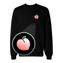 Peach Pocket Print Sweatshirt Back To School Unisex Sweat Shirt