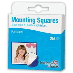 "Scrapbook Adhesives Mounting Squares 250/pkg-permanent, White, .5""x.5"""