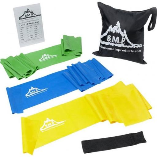 Black Mountain Products Therapy Exercise Bands 3 Therapy Exercise Bands, Set of 3