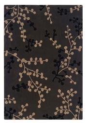 Linon Trio Collection Charcoal & Beige - 5' x 7'