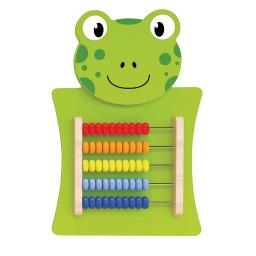 Learning advantage abacus activity wall panel frog