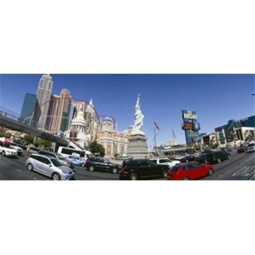Panoramic Images PPI108277L New York New York Hotel MGM Casino Excalibur Hotel and Casino The Strip Las Vegas Clark County Nevada USA Poster Pr