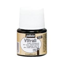 Pebeo 050030 vitrail air dry glass paint sand 45ml 050030