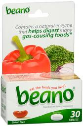 Beano Food Enzyme Dietary Supplement- 30 Tablets, Pack Of 3