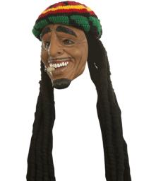 Bob Marley Mask Stoned Rasta Mask Costume Face Cosplay Smoking Weed Tam Jamaican