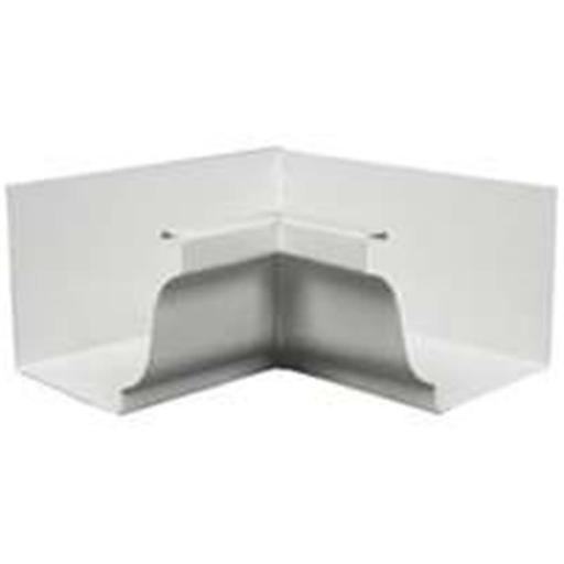 Amerimax Home Products 27201 Aluminum Gutter Inside Mitre White - 5 In.