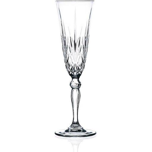 RCR Melodia Crystal Champagne Glass set of 6